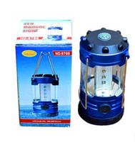 9789 12 LED portátil acampar lámpara de la luz de la linterna del campo con brújula telescópica acampar linterna vivac senderismo luz al por mayor