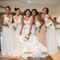 Nigerian African 2018 New A Line Bridesmaid Dresses Lace App...