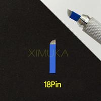 18 Pin Promptional Lâmina Manual Permanente Agulhas de Maquiagem sobrancelha Microblading permanente Esterilizado embalagem acessórios de maquiagem frete grátis