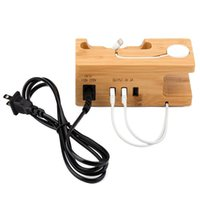 US   UK   EU Plug Wooden Bracket Mobile Phone Charging Stand...