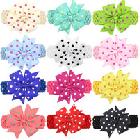 "11cm Baby Girls 4. 3"" Bow Headbands Children Forked Tail..."