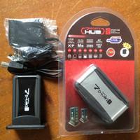 480 Mbps 7 Port Yüksek Hızlı USB 2.0 HUB + AC Adaptör Kablosu + Fiş Bilgisayar Çevre Birimleri için Aksesuarlar ile LED Göstergesi Ücretsiz nakliye