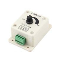 조광기 12V 8A 96W 단일 색상 노브 LED 조 광 컨트롤러 3528 5050 5630 3014 조 광 기