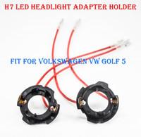 2 PZ H7 LED Faro del faro Kit di conversione del faro Bulb Base Base Adapter Socket Socket Clip per Volkswagen VW Golf 5 Jetta si adatta a Hid Alogen Converter