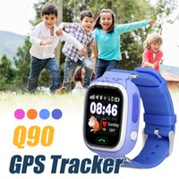Enfants Bluetooth Smart Watch Q90 Enfants Smart Watch LBS SOS Appel Lieu GPS Tracker Smartwatch Anti Perdu Moniteur Pour IOS Android Avec Boîte