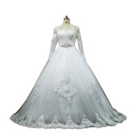 Vintage Sweetheart Lace Tulle Ball Gown Wedding Dress With H...