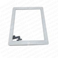 Touch Screen digitador painel de vidro com botões Assembléia adesivo para iPad 2 3 4 preto e branco