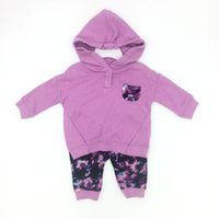 baby clothes flower girls clothing sets solid hoodies and co...