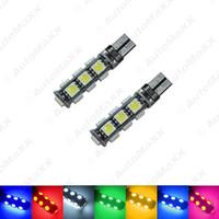 FEELDO 50 PCS Carro T10 194/168 Wedge 13-SMD 5050 Luz LED CANBUS Sem Erro Lâmpada 7-Cor # 3669