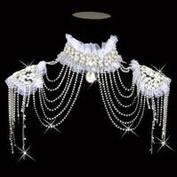 Collar de moda Borla de agua Cadena de hombro nupcial Accesorios de boda Aleación Cristal Rhinestone Boda Joyería 2017 Moda