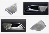 Angelguoguo سيارة السمعية المتكلم الخلفي باب السيارة مكبر الصوت تريم الغلاف لمرسيدس بنز GLA CLA A B الفئة