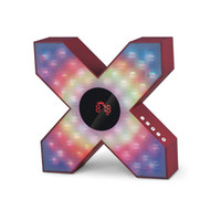 X shape styling wireless Bluetooth speakers With LED lights ...