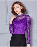 Venta al por mayor-Mujeres Tops Plus Size Bordado Blusa Blusa Blusas Blancas Con Ruffles Camisas Com Renda Big Tamaños 3XL 4XL XXXL XXXXL