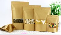 Qin. 01. 19 9*14+ 3cm stand up kraft paper candy ziplock bag, 1...