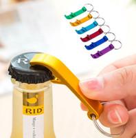 200 pcs / lot Nouveau Livraison Gratuite promotion personnalisé logo imprimé cadeau Métal en aluminium alliage ouvre-bouteille en métal porte-clés laser LOGO
