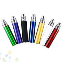Bästa ego t batteri e cigarett färgglada 650mAh 900mAh 1100mAh elektroniska cigaretter batteri för 510 trådatomizer e cigrette