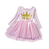 Robes de filles chaudes costumes princesse enfants pour bébé première fête d'anniversaire porte des vêtements pour filles de tutu
