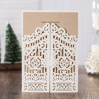 Elegant White Laser Cut Tree Silk Tie Wedding Invitations Cards, By  Wishmade, CW6178