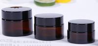 Color ámbar 5 ml frasco de vidrio frasco de vidrio templado frasco de cera recipiente contenedor de aceite concentrado crema cosmética