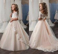 2017 Pink New Arrival Pageant Dresses for Girl Glitz Half Sl...