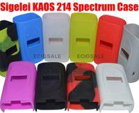 ل sigelei kaos 214 الطيف 230 واط e سيج السجائر الإلكترونية سيليكون حالة الجلد غطاء حقيبة جيب الحقيبة الملحقات مربع حالة