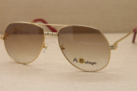 Высокая доставленных Завод прямых продаж 1324912 Солнцезащитные очки на открытом воздухе вождения очки моды C украшения золото кадр очки Размер: 58-16-140mm