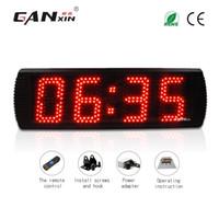 [GANXIN] Heißer Verkauf 5 zoll 4 Digits LED Anzeige Wanduhr mit Schwarz Aluminium Legierung Rahmen Timer Countdown und Countup Funktion