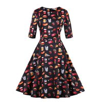 Unique Women' s Vintage 1950' s Dresses Hamburgers C...