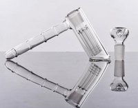 100% Real Image Glass Water Pipes hammer 6 Arm perc recglass...