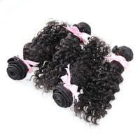 Brésilien Deep Wave Cheveux 400g Waquine Waquine Vierge Cheveux Virgin Naturel Couleur Brésilienne Hair Weave Bundles 4 PCS