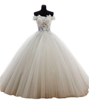 2017 Sexy Fashion Lace Ball Gown Quinceanera Dresses with Ap...