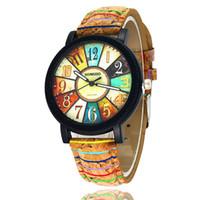 Armbanduhren Mode Kleid Uhren Herren und Damenuhren Holzmaserung Leder Quarzuhr Persönlichkeit Casual Vintage Uhr Relogio W0094