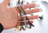 Moda Llaveros Torre Eiffel 3D francia Francia recuerdo paris KeyChain anillo llavero llave lindo adorno Torre Eiffel de París Llavero