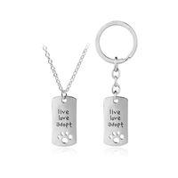 Lebenliebe nehmen Abdrücke Liebe heart-shaped Halskette keychains an, die Geschenkschmucksacheschlüsselring des Fahers Tagesliebes geben Verschiffen frei