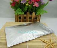 18x26 cm 100 pcs / lot Argent Blanc Pur Aluminium feuille Zip Lock sac-stockage lait en poudre alimentaire poly pochette, étanche fleur sèche poche