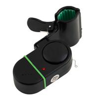 Dispositivo de alarma con luz de sonido Poste de caña de pescar Mordedura electrónica Peces Campana de alarma Con luz LED Dispositivo de alarma con luz de sonido Dispositivo de caña de pescar Poste de barra Electrónica