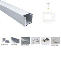 100 insiemi X 1M / lot luce LED lineari profilo in alluminio a 35mm largo canale U led bar per plafoniere o sospensione