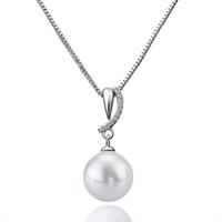 """جميلة لؤلؤة قلادة مع """"o"""" سلسلة قلادة مطعمة النمساوية كريستال مجوهرات الأزياء الأنيقة اكسسوارات مكتب سيدة العصرية مجوهرات هدايا"""