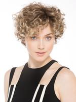 Xiu Zhi Mei Blande Court Afro Crépus Curly Naturel Perruque De Cheveux Pas Cher Cosplay Synthétique Brun Femmes Perruques Perruque Afro Perruque Pour Les Femmes Noires