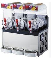 commercial frozen drink ice slush machine ice smoothie maker granita slush slushie machine 3 tank 45l 220v 110v - Slushie Machines