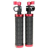 CAMVATE 2x Nueva DSLR empuñaduras de sujeción w / varilla de 15 mm de la barra del carril del aparejo Soporte trípode Código del artículo: c1076