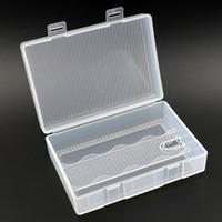 Soshine Transparent 1-4 Cellules 26650 Boîtier de protection pour batterie Boîtier de rangement pour boîte de batterie 26650 avec crochet