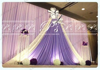 3M*6M backdrop with swags for wedding backcloth With Swags p...