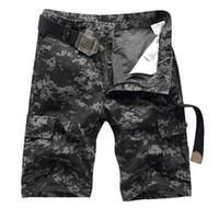 HEIßER 2017 Sommer Herren Baumwolle Gerade Camouflage Cargo Short Hosen Männer Military Dschungel Camo Taktische Shorts Plus Größe 28-38