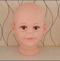 Freeshipping toptan PVC Gerçekçi Plastik Bebek / çocuk çocuk Manken Kukla Başkanı Peruk Şapka Sunglass Ekran kafa Manken 1 ADET B617