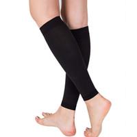 All'ingrosso-1 paio alleviare la gamba polpaccio manica varicose circolazione circolazione compressione elastica calza supporto gamba per donna 20-30 mmhg WY-01