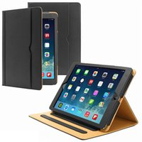 For iPad Pro 9. 7 Tan Leather Wallet Stand Flip Case Smart Co...