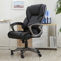 Black PU Leather High Back Office Chair Executive Task Ergon...