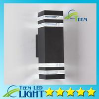 Modern Açık Su Geçirmez LED Duvar Lambaları AC 90-260 V ile 2 adet * 5 W LED Ampuller IP65 Alüminyum Avlu Bahçe Sundurma Koridor Işıkları Aydınlatma