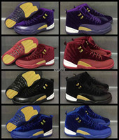 2017 Mens Women 12 XII Pleuche Basketball Shoes Men Wool Blu...
